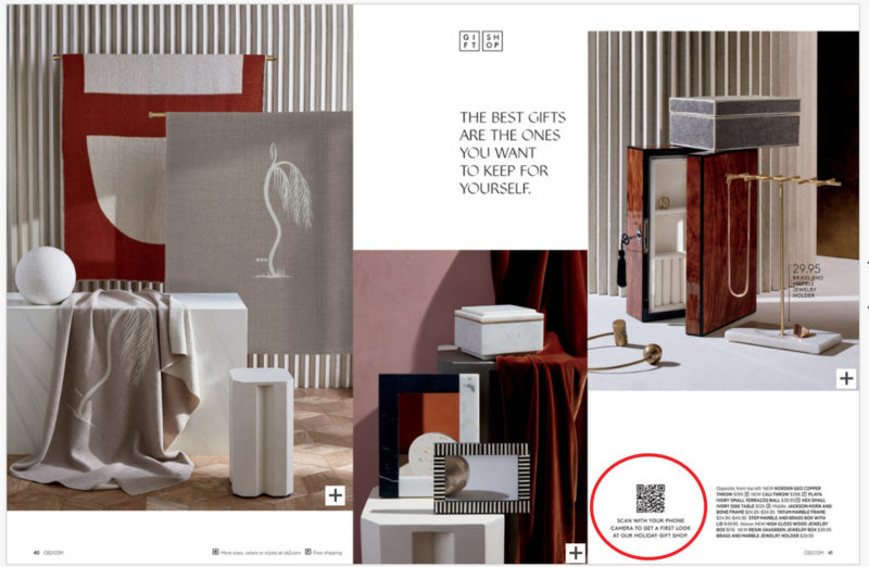 CB2 catalog uses QR codes to deepen relationship with audience